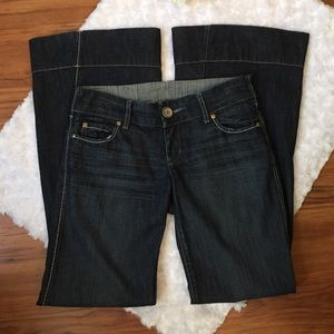 Level 99 Anthropologie Super Flare Wide Leg Jeans